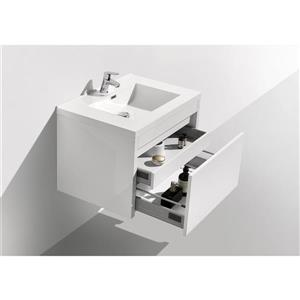 GEF Selena Vanity Set with Mirror, 30-in White