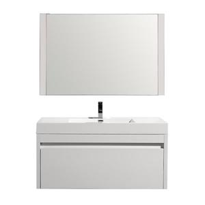 GEF Selena Vanity Set with Mirror, 48-in White