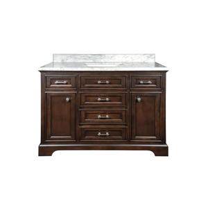 GEF Brielle Vanity with Marble Top, 48-in Dark Walnut