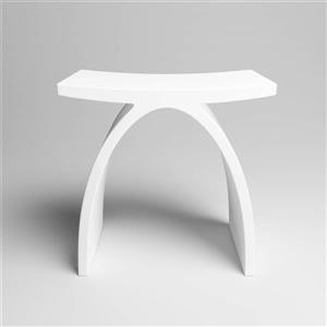 Dyconn Faucet Stone Vanity Seat - White
