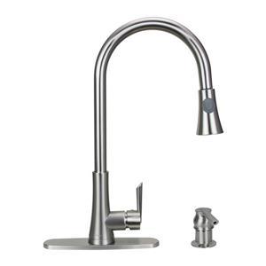 "Dyconn Faucet Salish Kitchen Faucet - 16.1"" - Brushed Nickel"