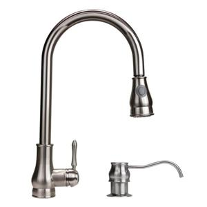 "Dyconn Faucet Coral Kitchen Faucet - 18"" - Brushed Nickel"