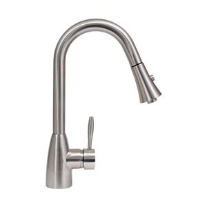 """Dyconn Faucet Gila Kitchen Faucet - 16"""" - Brushed Nickel"""