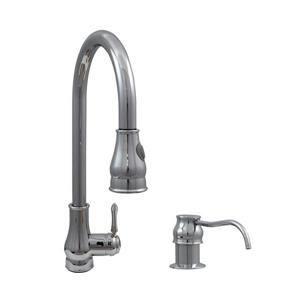 """Dyconn Faucet Baltic Kitchen Faucet - 18"""" - Chrome"""