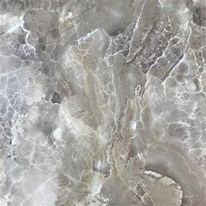 Luxo Marbre Double Sink Vanity Top - 61-in x 22-in - Quartz - Veined Brown.