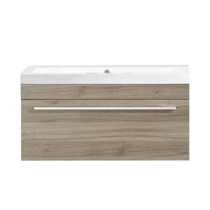 Luxo Marbre Relax  Vanity - 1  Drawer - 30-in - Veneer Wood - Light Oak.