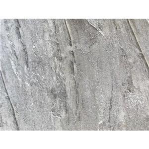 Luxo Marbre Single Sink Vanity Top - 31-in x 22-in - Quartz - Veined Grey.