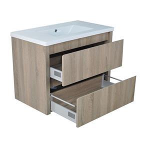 Lukx Modo David Wall Mount Single Sink Vanity Set - 32-in - Beige