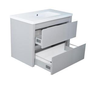 Lukx Modo David Wall Mount Single Sink Vanity Set - 32-in - Grey