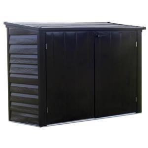 Arrow Versa-Shed® Steel Storage Unit - 6' x 3' - Black