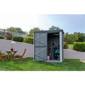 Arrow Shed-in-a-Box® Steel Storage Unit - 6' x 4' - Grey