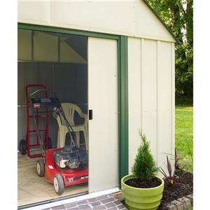Arrow Sheridan® Vinyl Steel Storage Shed - 10' x 8' - Off-White