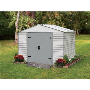 Arrow Viking® Steel Storage Shed - 10' x 7' - Off-White
