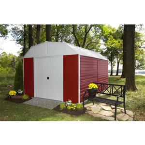 Arrow Red Barn® Steel Storage Shed - 10' x 14' - Red