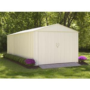 Arrow Commander® Steel Storage Unit - 10' x 20' - Off-White