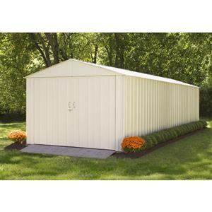 Arrow Commander® Steel Storage Unit - 10' x 25' - Off-White