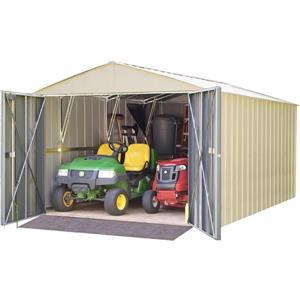 Arrow Commander® Steel Storage Unit - 10' x 15' - Off-White