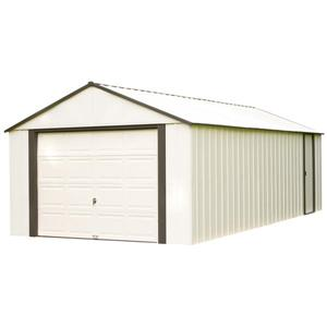 Arrow Murryhill® Steel Storage Shed - 14' x 31' - Off-White