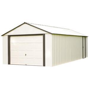 Arrow Murryhill® Steel Storage Shed - 12' x 24' - Off-White