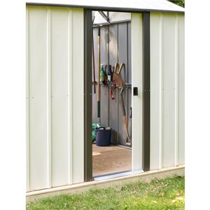 Arrow Murryhill® Steel Storage Shed - 14' x 21' - Off-White