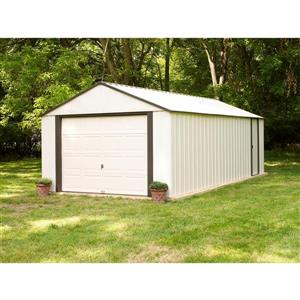 Arrow Murryhill® Steel Storage Shed - 12' x 17' - Off-White
