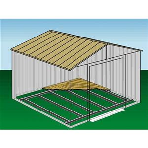 Arrow Shed Floor Frame Kit - 10' x 7' - Off-White