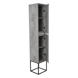 Lukx Modo Casey Linen Cabinet with LED Lighting - 14-in - Black