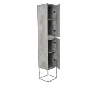 Lukx Modo Casey Linen Cabinet with LED Lighting - 14-in - Chrome
