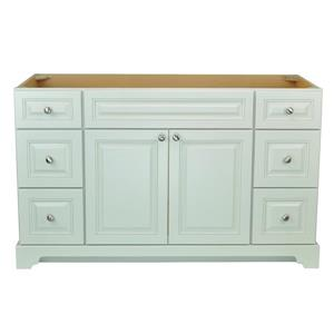 Lukx Bold Damian Vanity Cabinet - 54-in - Antique White