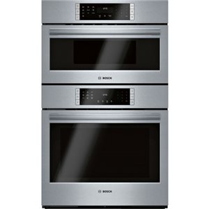 Bosch 800 Series 30-in Self-Cleaning Microwave Wall Oven Combination (Stainless Steel)