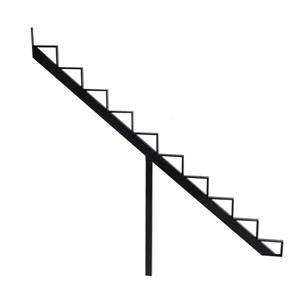 Pylex - 10-Steps Alu Stair Riser Black-7 1/2-in x9 1/16-in -1 riser only