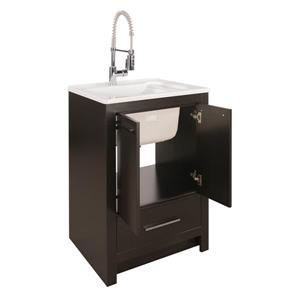Foremost Hamburg Vanity Combo - Espresso and White Counter Top - 25-in