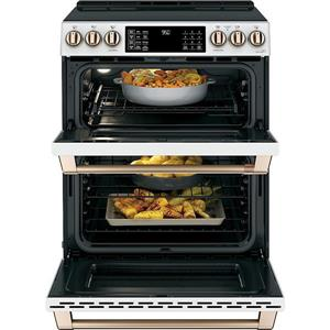 Cafe 30 In 7 Cu Ft Double Oven Induction Range With True