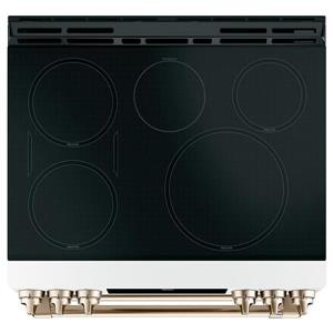 Cafe 30-in 7-cu ft Double Oven Induction Range with True European Convection (Matte White)