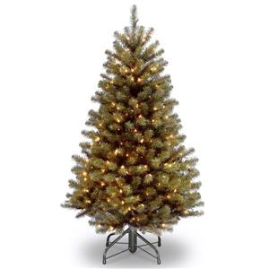 North Valley® Spruce Christmas Tree with Clear Lights - 4 ...