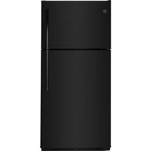 GE 18-cu ft Top-Freezer Refrigerator (Black)