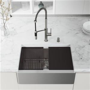 en-CA Oxford Flat Stainless Steel 30-in Sink - Livingston Faucet