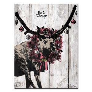 Ready2HangArt Wall Art Christmas Dancer Canvas 20-in x 30-in - Brown