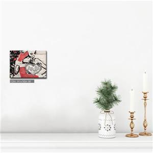 Ready2HangArt Wall Art Christmas Santa Baby Canvas 16-in x 12-in - Brown