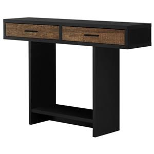 Monarch Console Table with Drawer- Black/Brown Reclaimed Wood Look - 48-in
