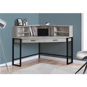 Monarch Corner Computer Desk - Grey Reclaimed Wood - 48-in