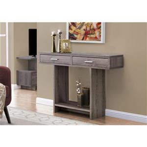 Monarch Console Table with Drawers - Dark Taupe - 45-in
