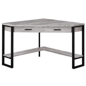 Monarch Corner Computer Desk - Grey Reclaimed Wood - 48-in