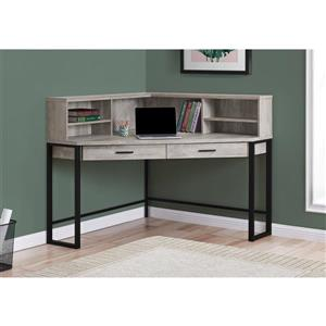 Monarch Corner Computer Desk - Taupe Reclaimed Wood - 48-in