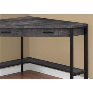 Monarch Corner Computer Desk - Black Reclaimed Wood - 42-in