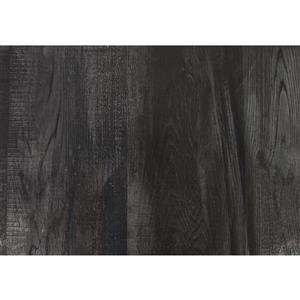 "Monarch Computer Desk - Black Reclaimed Wood and Black Metal- 55""L"