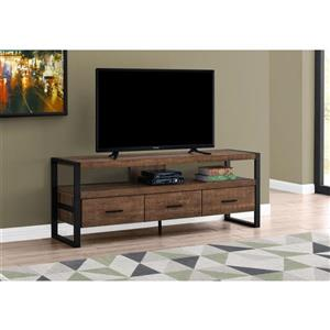 Monarch TV Stand 3 Drawers - Brown Reclaimed Wood Look - 60-in