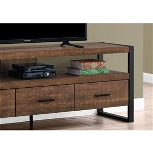 Monarch TV Stand 3 Drawers - Brown Reclaimed Wood Look ...