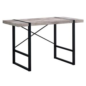 Monarch Computer Desk - Taupe Reclaimed Wood and Black Metal - 48-in