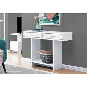 Monarch Console Table with Drawers - White - 48-in